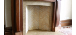 Herringbone Firebrick Firebox in Regency setting