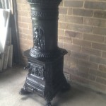 Original Romanian Cast Iron Fireplace $600