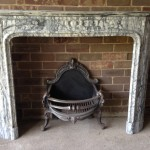 Blue Grey Empire carved Empire Marble Fireplace -  very rare piece.
