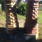 Large Victorian Salt Glaze Chimney Pots $400 each