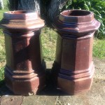 original pair of salt glaze Chimney pots $600 pr