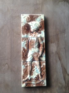 3x Tile panel American c1890 ( some wear & tear) $210