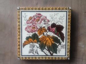 Single Fine Victorian Hearth Tile c1885 $75