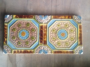 2 x embossed Victorian Tiles c1880 $120