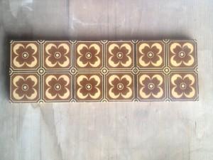 3 Minton c1870 Brown hearth tiles $240