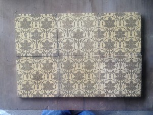 Set of 6 c1870 Sepia Victorian Pattern tiles $300