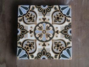 Single Minton c1850 pattern Victorian tile $110