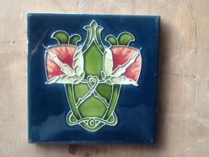 """Tubeline Art Nouveau 6x6"""" English tile $45"""