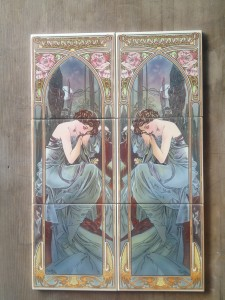 Mucha Nocturnal 3 tile panel $120 per panel