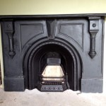 Victorian Black Slate arched mantle